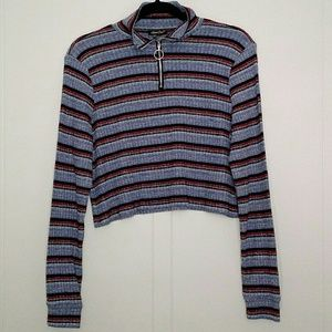 Luna Chix - Striped Pullover Turtleneck Sweater